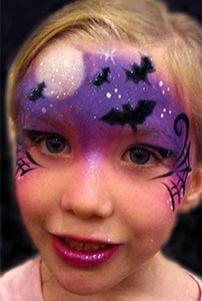 Bats-and-Web-girl-at-night