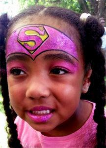Spectrum Picnic Super Girl Face Painting