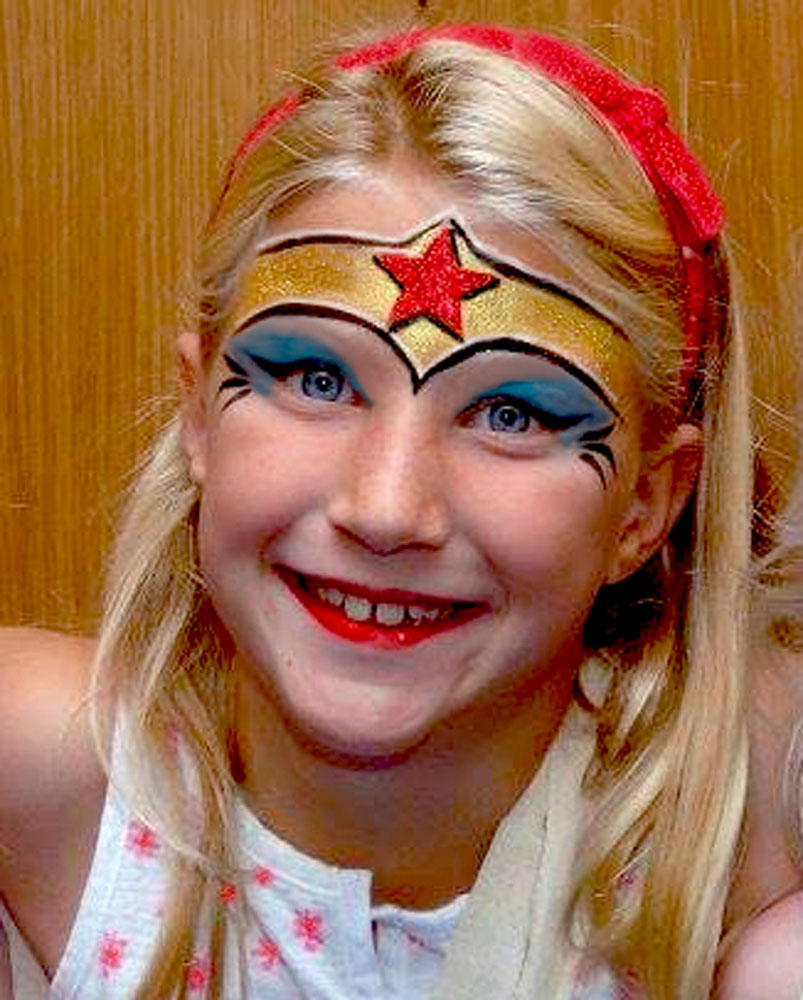 Gallery For gt Wonder Woman Face Paint