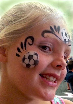 Face Painting Soccer Ball