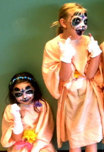 Twin Pandas Cincinnati Playhouse Summer Camp face painting