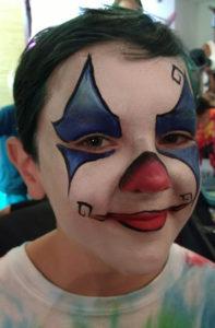 Cincinnati Contemporary Art Museum face painting clowns