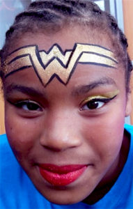 New Wonder Woman facepainting PNC Bank