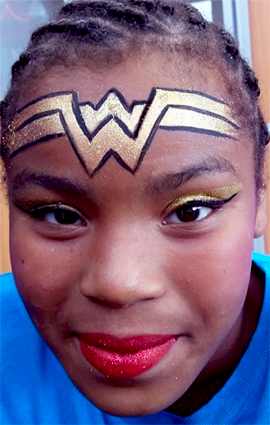 New W Wonder Woman Replacement Face Painting Cincinnati Rainbow Faces