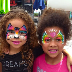 CIncinnati Face Painting tigress and heart mask