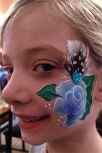 Winter Rose Jewels face painting