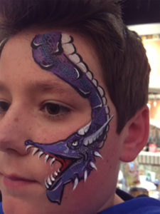 Dragon face painting ElRancho Nuevo 4978 Union Centre Pavilion, West Chester Township, OH 45069