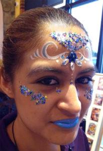 Face painting Cincinnati Ohio jewels chunky glitter