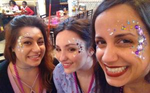 Face painting El Rancho Nuevo Ohio jewels chunky glitter